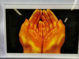 Golden UV print on Duratrance media