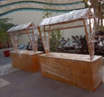 Wooden Food Cart for Sharjah Museum